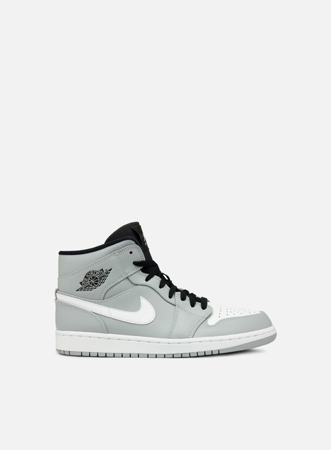 sneakers jordan air jordan 1 mid wolf grey white black