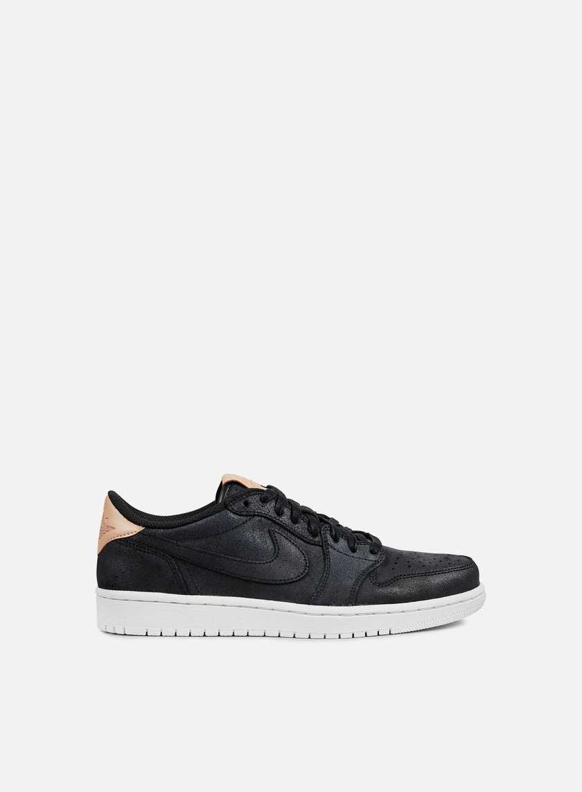 Jordan - Air Jordan 1 Retro Low OG, Black/White/Vachetta Tan