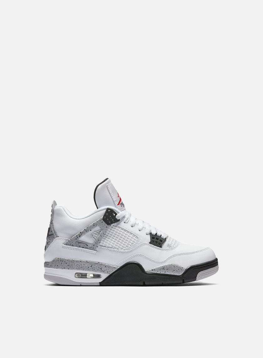 Jordan - Air Jordan 4 Retro OG, White/Fire Red/Tech Grey