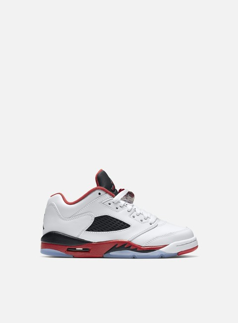 sneakers jordan air jordan 5 retro low gs white fire red black