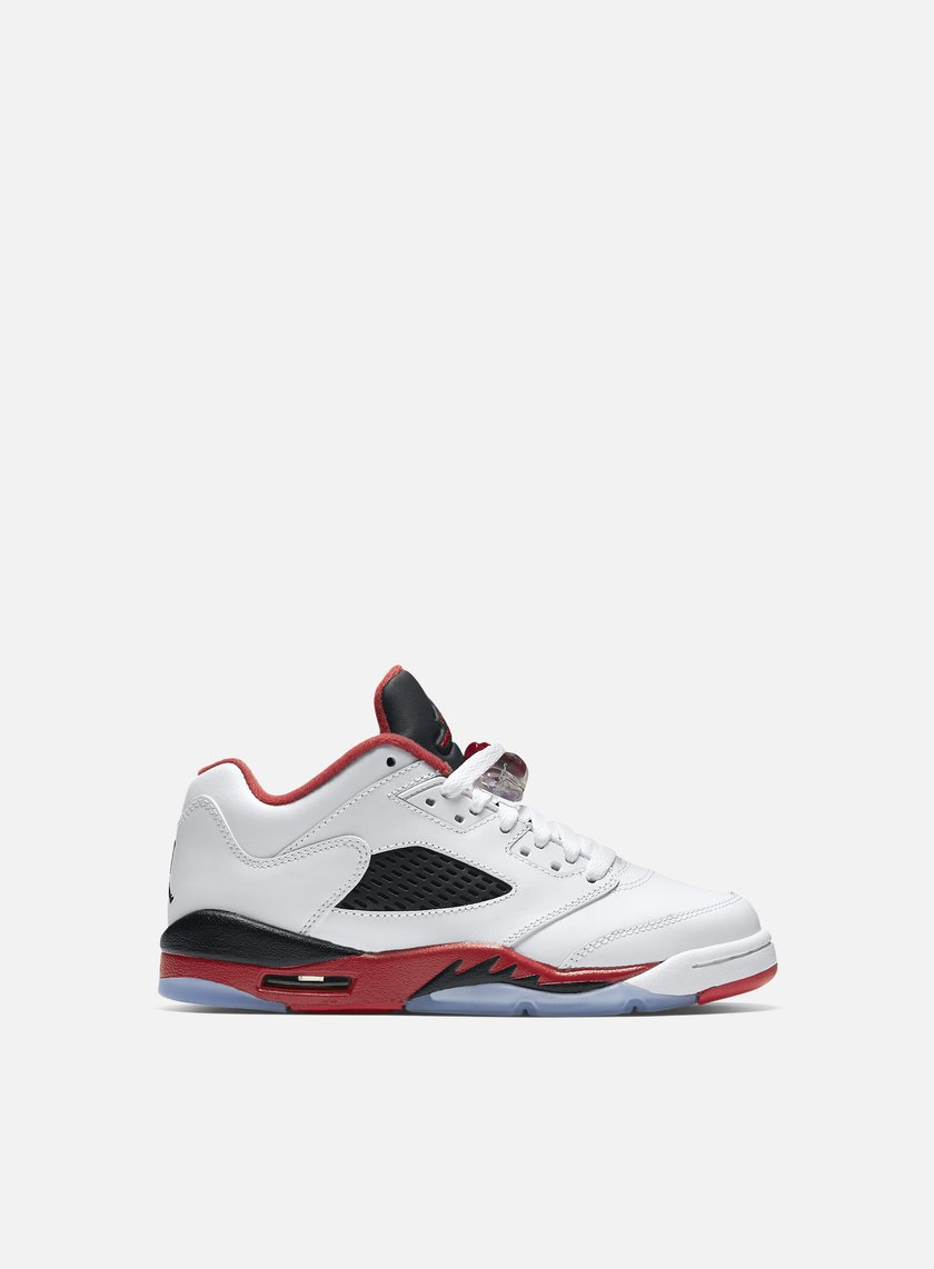 Jordan - Air Jordan 5 Retro Low GS, White/Fire Red/Black