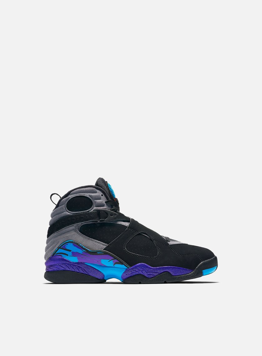 Jordan - Air Jordan 8 Retro, Black/True Red/Bright Concord