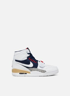 Jordan - Air Jordan Legacy 312, White/White/Midnight Navy