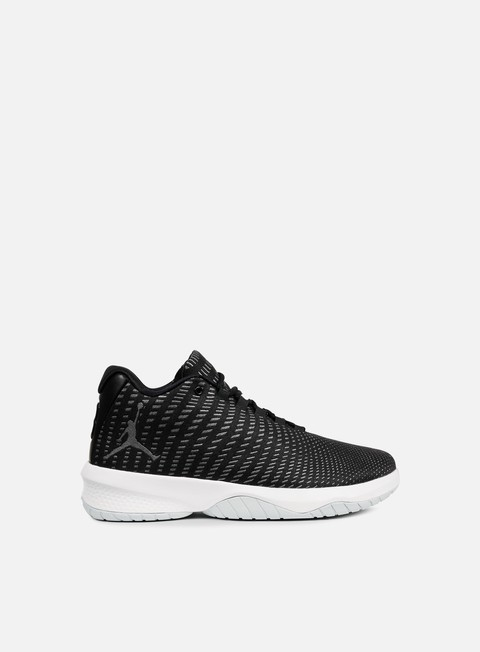 sneakers jordan b fly black white dark grey