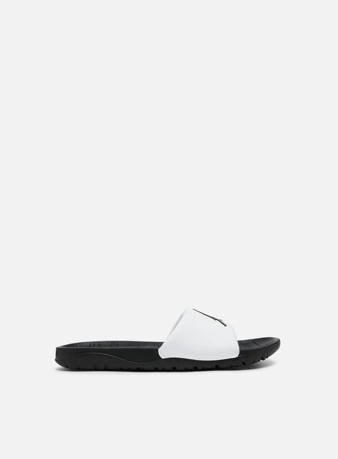 black jordan flip flops