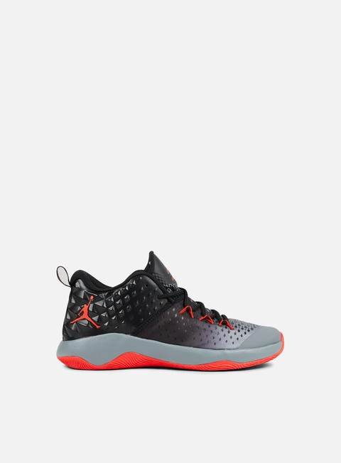 sneakers jordan extra fly cool grey max orange