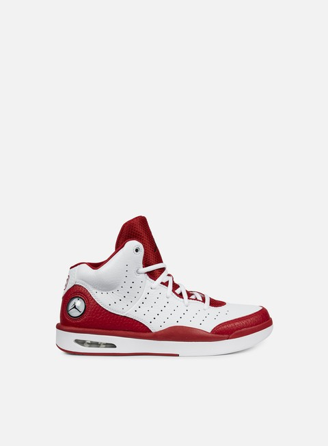 sneakers jordan flight tradition white black gym red