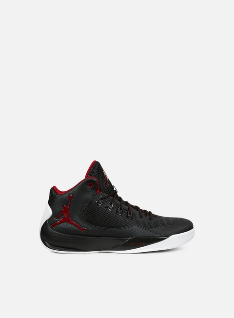 sneakers jordan rising high 2 black gym red white