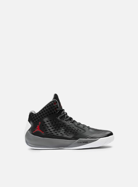 sneakers jordan rising high black gym red cool grey