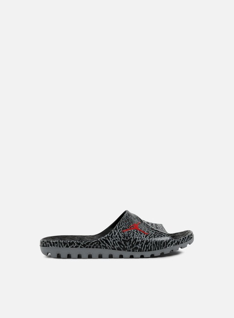 sneakers jordan super fly team slide gr black gym red cool grey