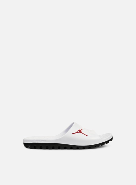 sneakers jordan super fly team slide white gym red black