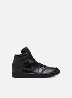 Jordan - WMNS Air Jordan 1 Mid, Black/Black/Black