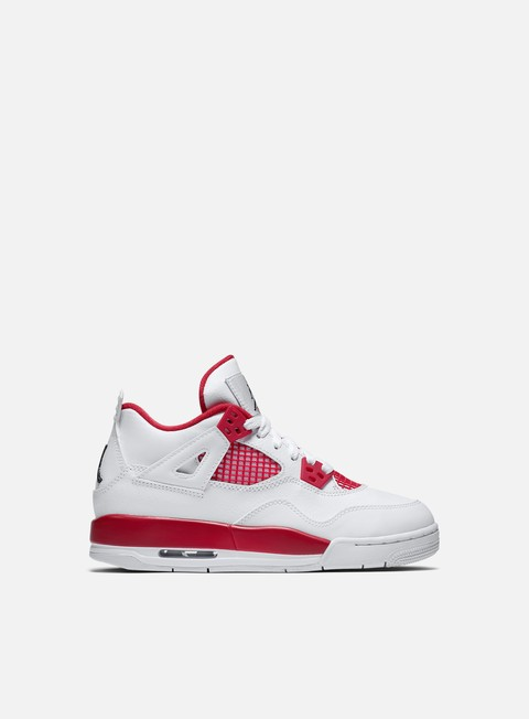 sneakers jordan wmns air jordan 4 retro bg white black gym red