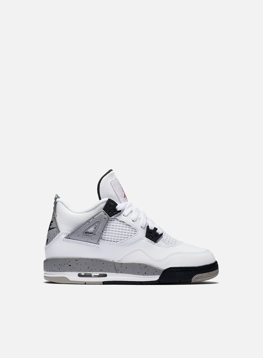 Jordan - WMNS Air Jordan 4 Retro OG BG, White/Fire Red/Tech Grey