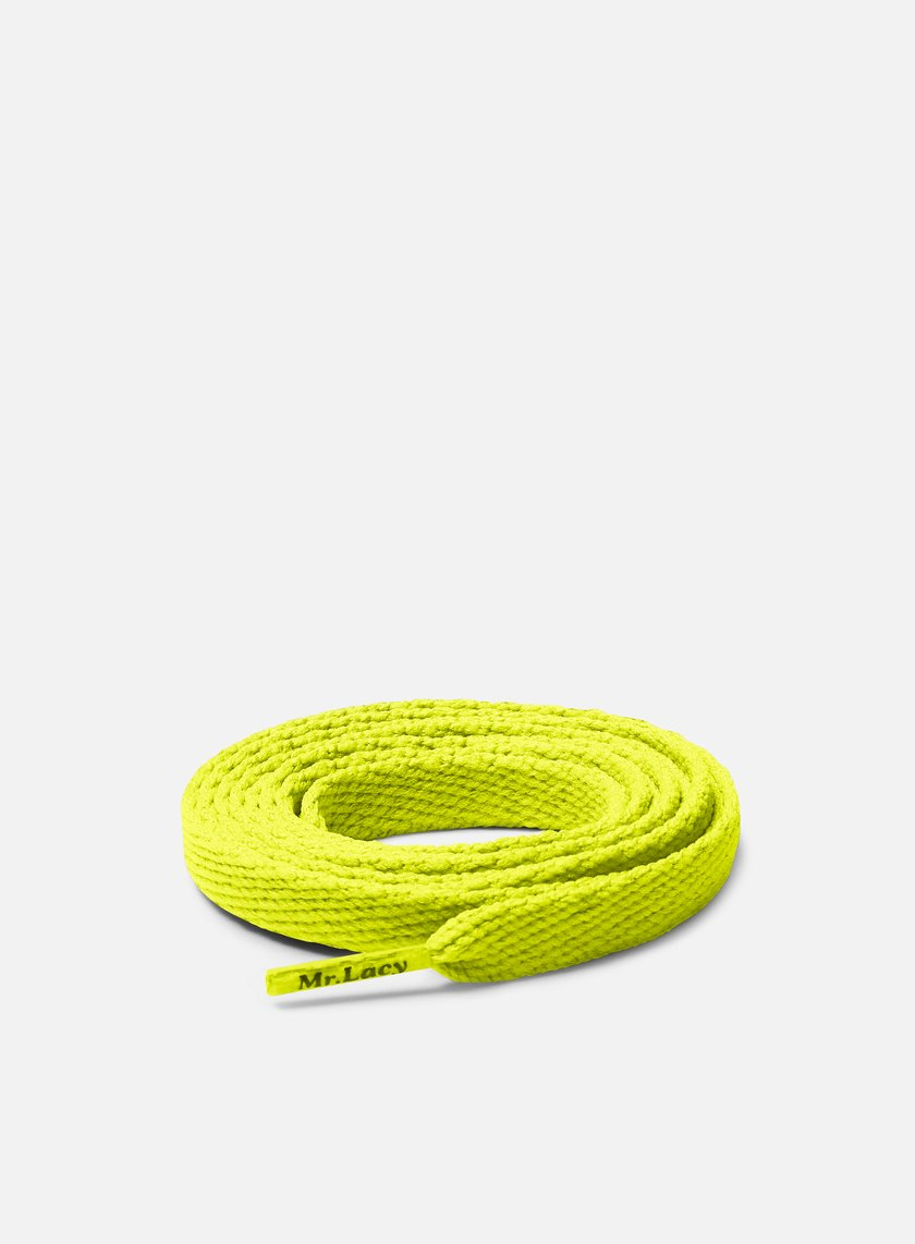 Mr Lacy - Flatties Laces, Neon Lime