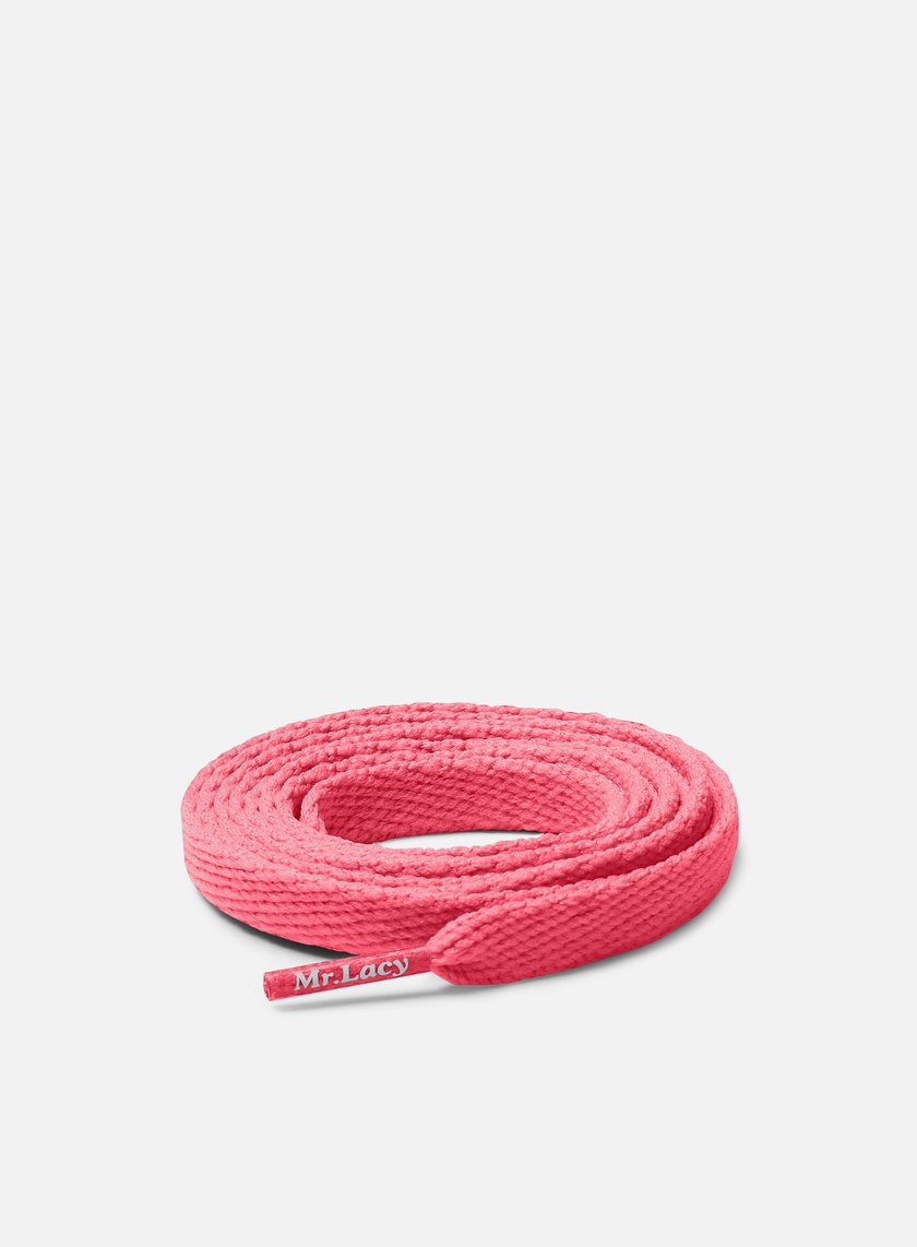 Mr Lacy - Flatties Laces, Neon Pink