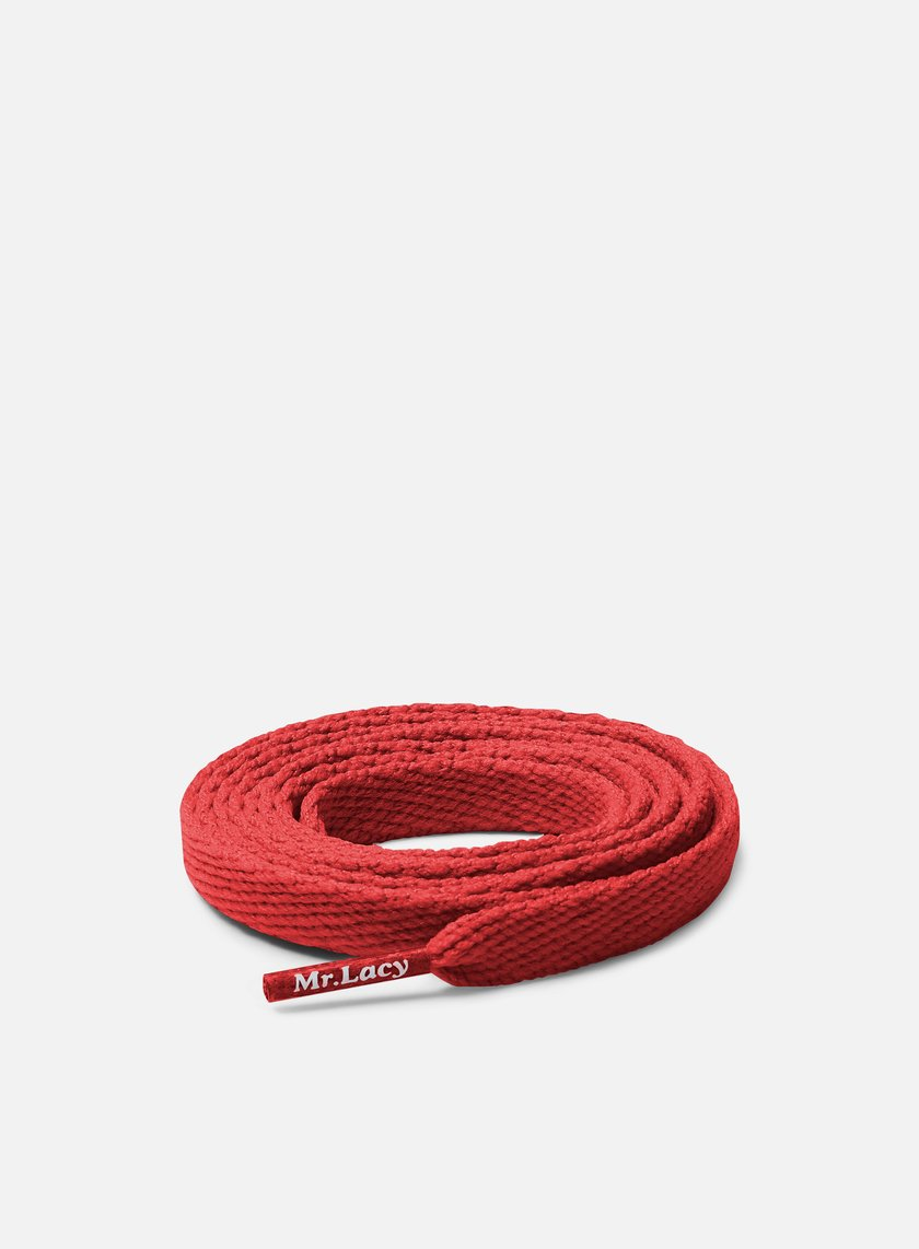 Mr Lacy - Flatties Laces, Red