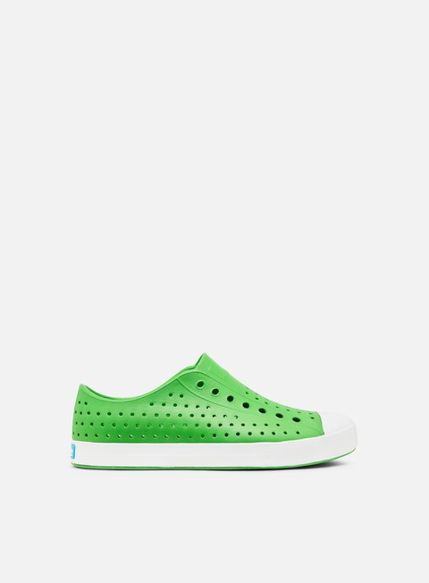 sneakers native jefferson grasshopper green shell white