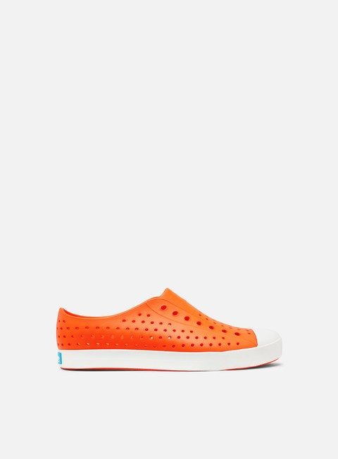 sneakers native jefferson sunset orange shell white