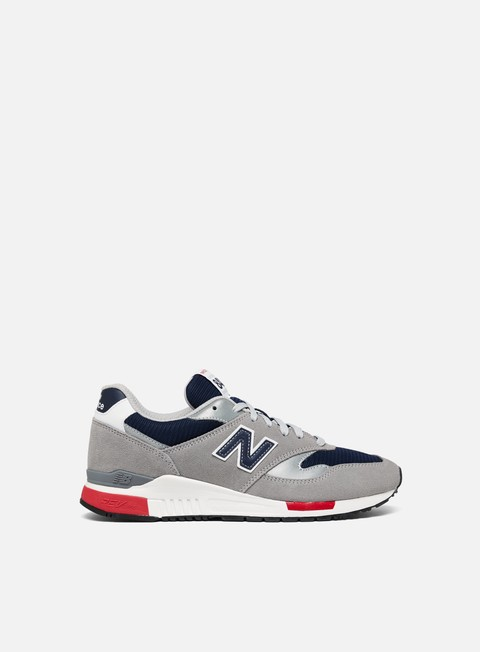 sneakers new balance 840 suede mesh grey navy red
