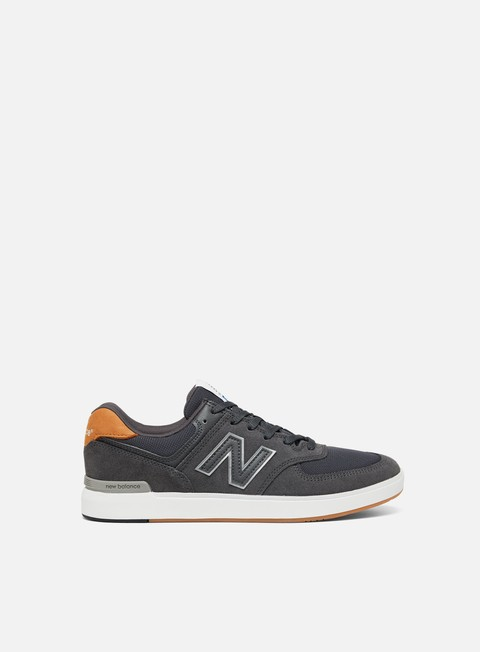 sneakers new balance am574 textile leather all coasts grey black