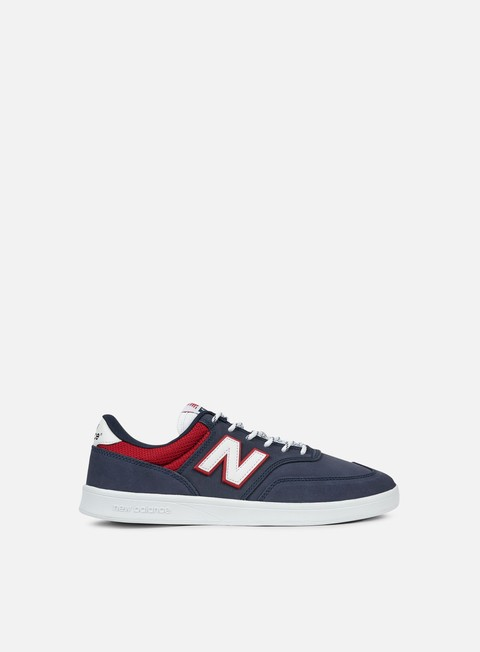 sneakers new balance am617 synthetic leather blue red
