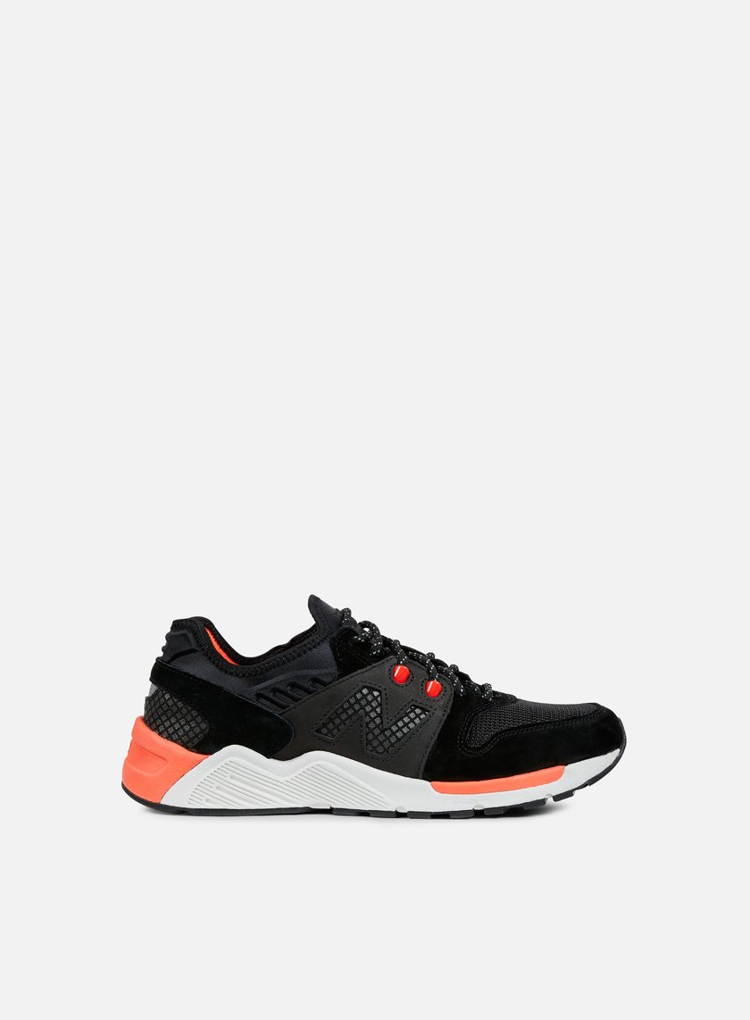 New Balance - ML009 Suede/Mesh, Black/Orange