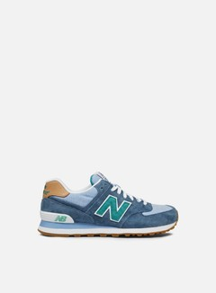 New Balance - ML574 Pigskin/Canvas, Lagoon 1