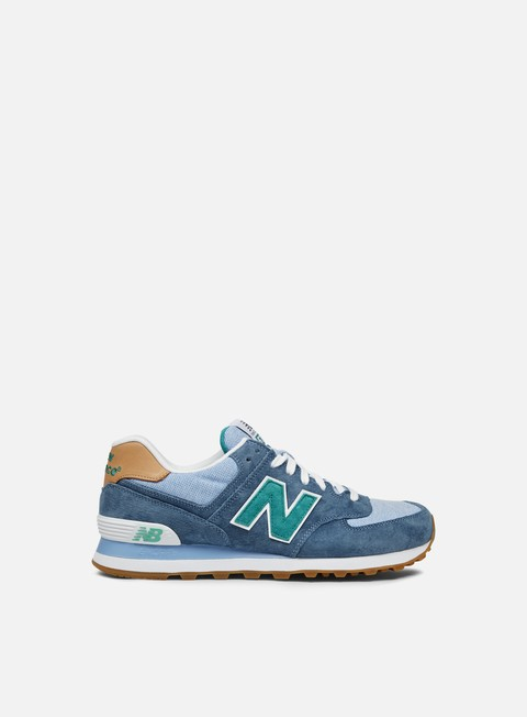 Sale Outlet Low Sneakers New Balance ML574 Pigskin/Canvas