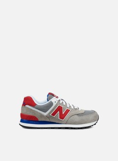 New Balance - ML574 Suede/Mesh, Grey/Red 1