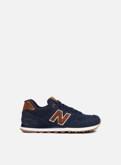 New Balance - ML574 Textile, Navy 1