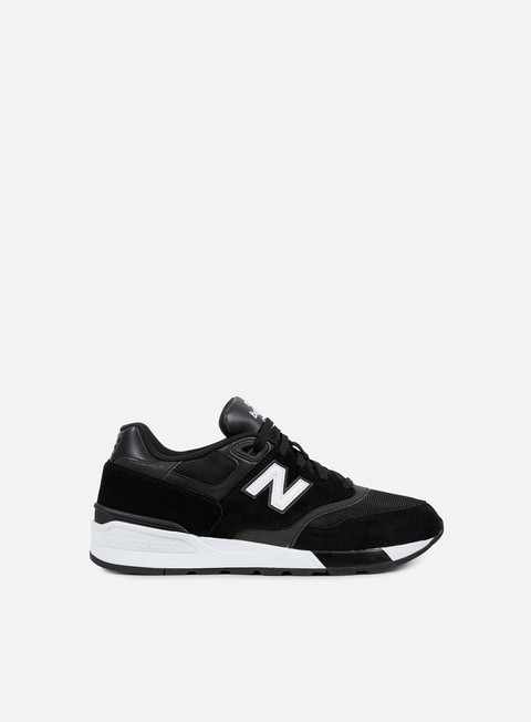 sneakers new balance ml597 suede mesh black