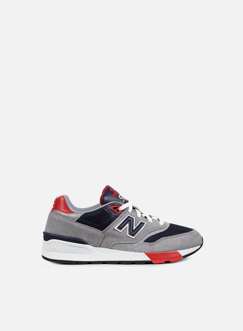 sneakers new balance ml597 suede mesh grey navy