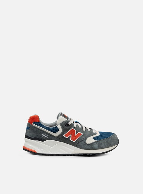 sneakers new balance ml999 dark grey orange navy