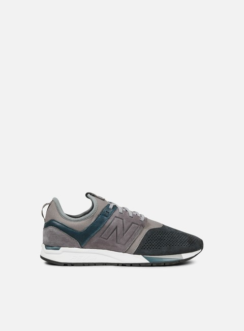 sneakers new balance mrl247 nubuck textile grey black