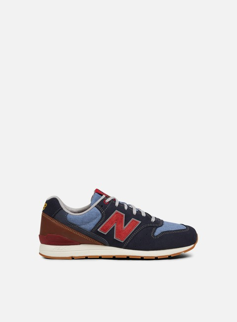 sneakers new balance mrl996 suede textile navy