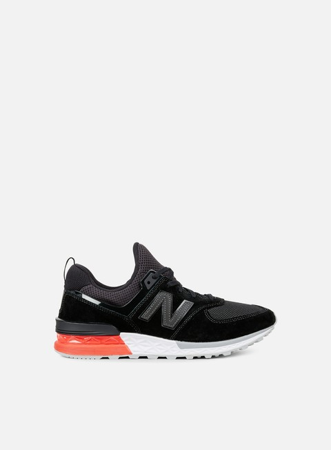 sneakers new balance ms574 suede mesh black
