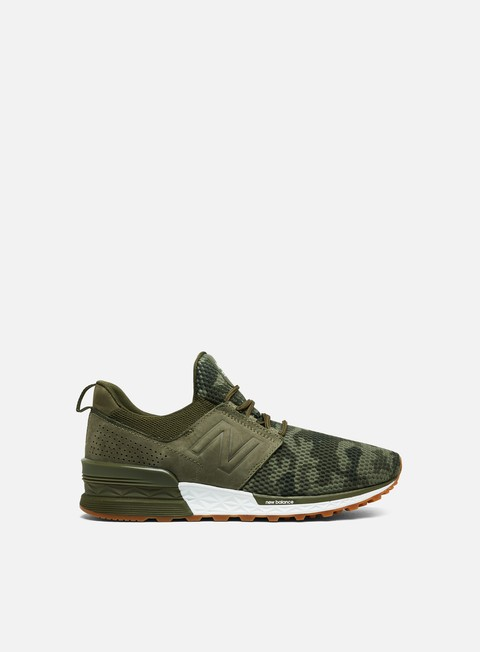 sneakers new balance ms574 syntetic mesh olive camo