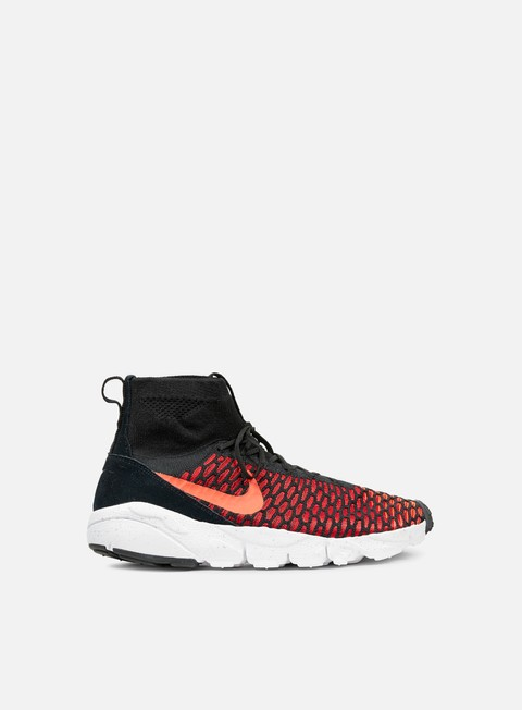 sneakers nike air footscape magista flyknit black bright crimson gym red