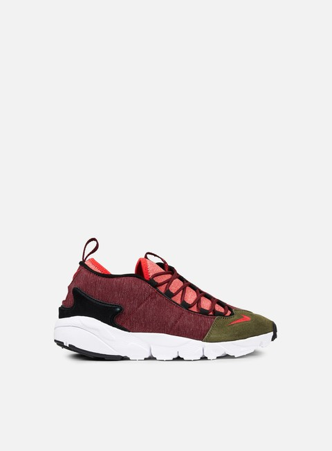 sneakers nike air footscape nm dark team red rush red dragon red