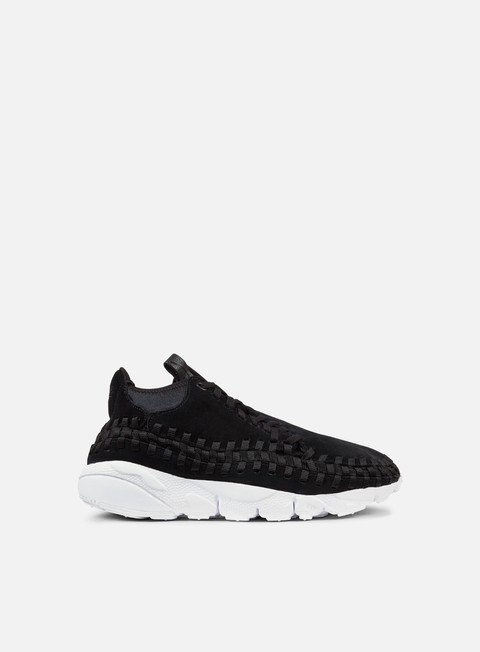 sneakers nike air footscape woven chukka black black white