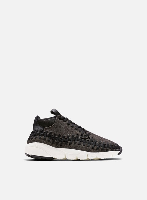 sneakers nike air footscape woven chukka se black black ivory