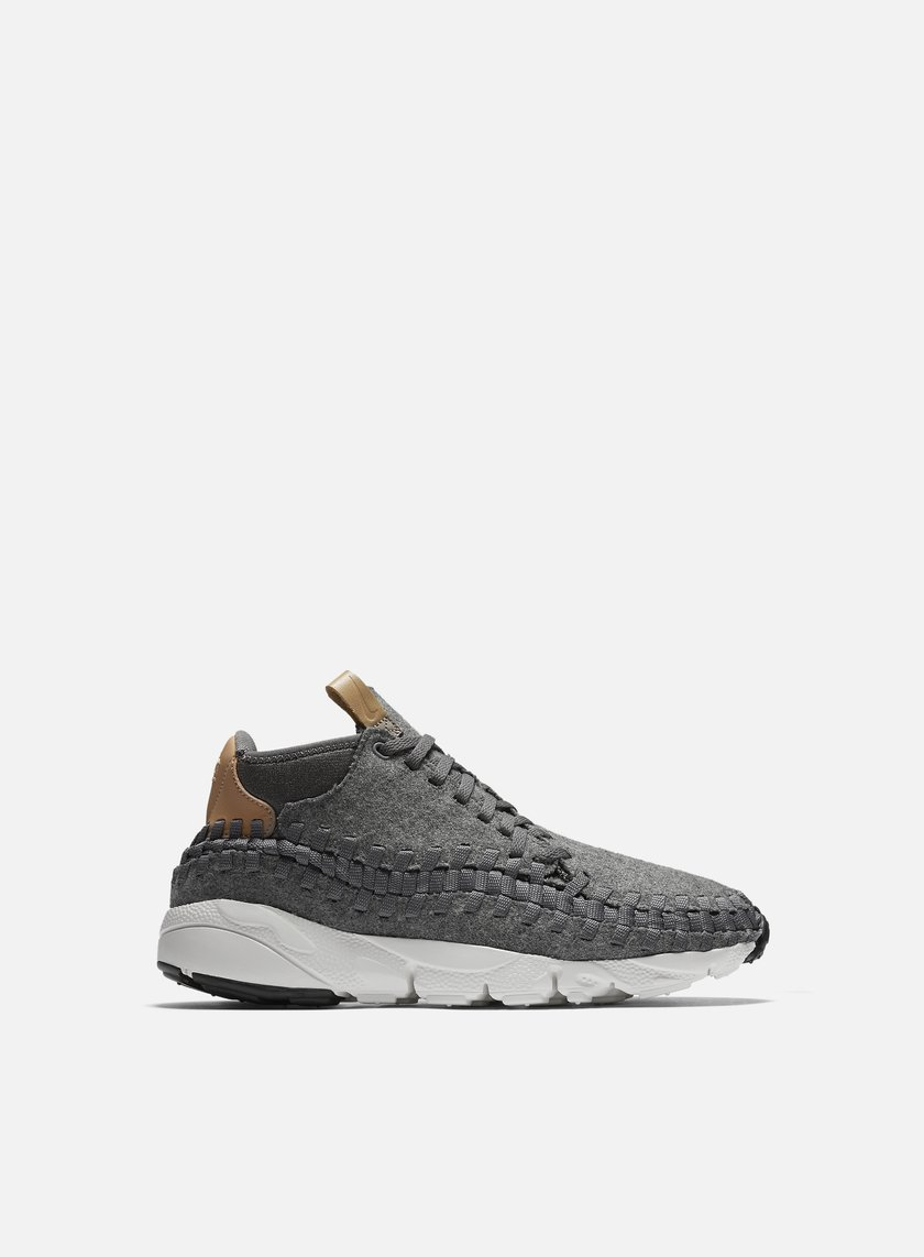 Nike - Air Footscape Woven Chukka SE, Dark Grey/Sail/Vachetta tan