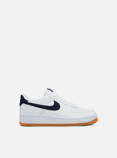 Nike - Air Force 1 07 2, White/University Red/Gum Medium Brown/Obsidian