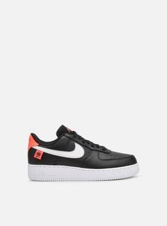 Nike - Air Force 1 07, Black/White/Flash Crimson