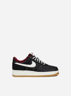 Nike - Air Force 1 07 LV8, Black/Sail/Action Red