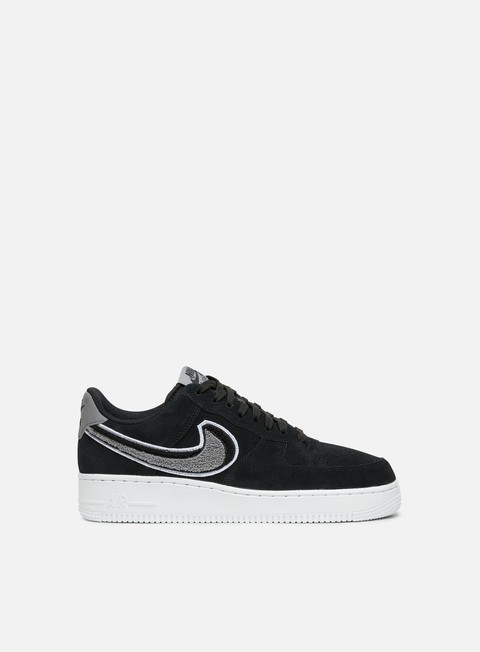 sneakers nike air force 1 07 lv8 black white cool grey white