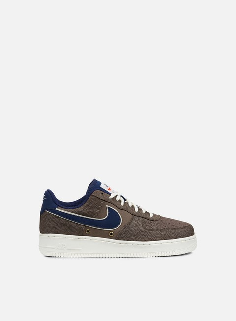 sneakers nike air force 1 07 lv8 dark mushroom binary blue sail