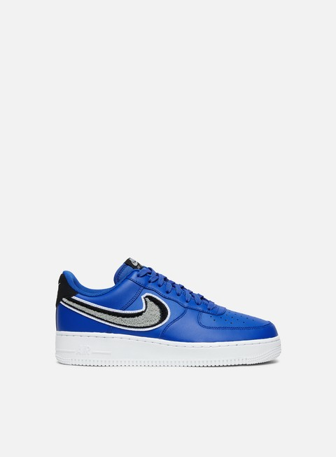 sneakers nike air force 1 07 lv8 game royal wolf grey black