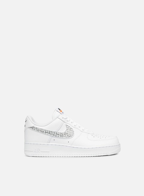sneakers nike air force 1 07 lv8 jdi lntc white white black total orange